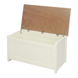 Large Ottoman Wooden Storage Box Chest Bench Seat Toy Bedding Trunk Cabinet Lid