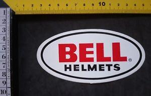 sticker  adesivo original    BELL  HELMETS  mint   13 cm X  6,6  cm