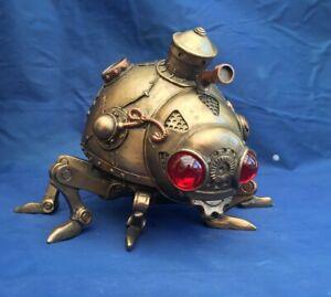 Steampunk Steam Bug Beetle Ladybird Ornament Nemesis Now New Boxed Figurine