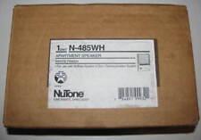 NEW Nutone N-485WH Indoor Intercom Speaker IN WHITE for 478 Amplifier N485