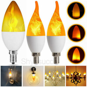 E14 LED Flicker Flame Light Bulb Simulated Burning Fire Effect Party Lamp Decor