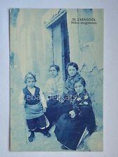 ZARAGOZA Saragozza ninos aragoneses Spagna Spain old postcard