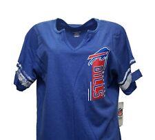 Buffalo Bills Nfl Team Apparel Women's Blue Raglan Notched V T Shirt Plus Size