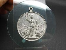 Zinn Medaille Tragbar Gewerbe & Industrie-Ausstellung zu Hamburg 1889 (816)