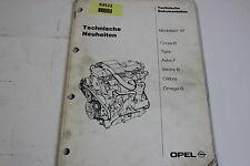 Opel 1997 Neuerungen Neuheiten Service Handbuch Werkstatthandbuch Manual