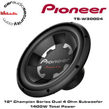 "Pioneer TS-W300D4 12"" Champion Series Car Bass Sub Subwoofer 1400W Brand New"