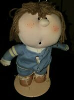 "Vintage 1984 Bumpkin Bunch 14"" TYKE Plush Doll W Stand & tag by Fabrizio"