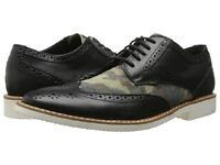 Stacy Adams Sweeney Camo Black Wingtip Oxford Casual Leather Dress Shoe Military