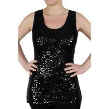 Figurbetonte Ärmellose Taillenlang Damenblusen,-Tops & -Shirts mit U-Ausschnitt