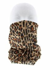 Unisex Brown Leopard Print Pattern Snood Neck Face Covering Breathable New
