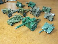 Vintage / Retro, Britains..Dinky and Crescent, WW1 and WW2 Toy Canons, x 10.
