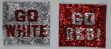 Go Red/Go White: Flippable Sequin Patch