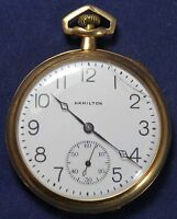 1920 Hamilton 900 12s 19j Pocket Watch - 14k Gold - Swing-Out Case