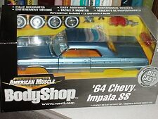 ERTL 1964 CHEVY IMPALA SS BLUE HARDTOP MODEL KIT 1/18 BODY SHOP SERIES