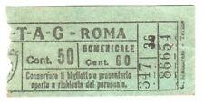 ANTICO BIGLIETTO AUTOBUS E TRAM 1940 ca. - ATAG - ROMA - Centesimi 50 VERDE
