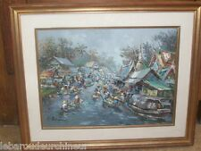 huile sur toile orientalisme asie cambodge vietnam signée