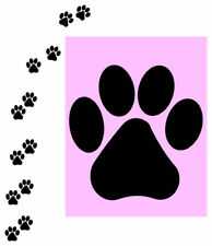 "100 kitty / CAT / dog paws prints track VINYL DECAL STICKER 1.5"" X1.5"" CAR WALL"