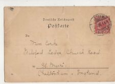 Miss Jess Corke Milsford Lodge Church Road St Marks Cheltenham 1896 467b