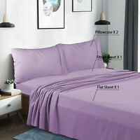 4 Piece Queen Size Bed Sheets Set Comfort 1800 Count Deep Pocket Fitted Sheet