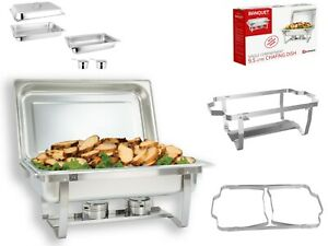 Single Compartment 9.5L Chafing/Buffet/Party Dishes or Food Warmer Folding Stand