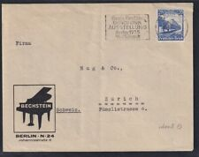 DR. Reklame-Brief, Bechstein Berlin mit EF. Mi.-Nr. 582
