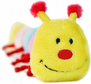 ZippyPaws Multicolored Caterpillar Squeaky Stuffed Head 6 Squeakers L Dog Toy