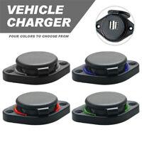 3.1A Car Dual USB Port Charger Socket Outlet LED For car boat motorcycle 12volt