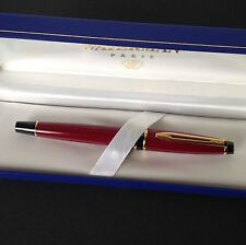 WATERMAN EXPERT BURGUNDY FOUNTAIN PEN MEDIUM PT NEW IN BOX ORIGINAL 1, OLD STYLE