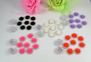 10 Resin Rose & A Grade Diamante round 21 mm embellishments, Crafts, DIY  Decor