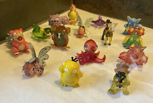 Lot Of 15 Pokemon Tomy Vintage Nintendo Figures Toys CGTSJ Rare translucent