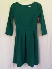 Women's Long Sleeve Solid Knit Ponte Fit & Flare Dress - MERONA Green XS