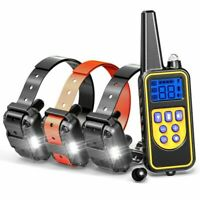Rechargeable 880 Yards Dog Training Collar LCD Remote for 3Dogs Waterproof
