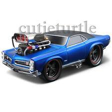 Maisto Muscle Machines 1966 Pontiac GTO 1:24 Diecast Model Car 35234 Blue