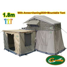 G CAMP 1.8m EXT ROOF TOP TENT TRAILER 4WD 4X4 CAMPING CAR RACK ANNEX AWNING WALL