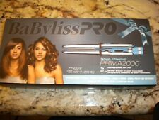"Babyliss PRO Prima2000 Nano Titanium 3/4"" Travel Flat Iron Straightener New NIB"
