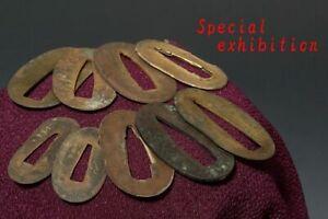 Japan Antique Edo 9 gold Seppa Habaki yoroi samurai katana tsuba koshirae sword