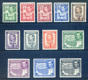 Somaliland George 6th 1938 Portraits to Left to R5 mint nh or lh (2020/01/24#03)