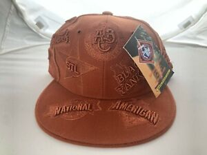 VINTAGE DS NEGRO LEAGUE BASEBALL MUSEUM ALL OVER FITTED CAP XL 7.75 BASEBALL HAT