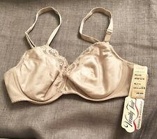 Nos Vintage Vanity Fair 36B Satin & Lace Bra Lightly Padded Usa Made 75-278