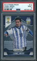 2014 Panini Prizm World Cup #12 Lionel Messi PSA 9
