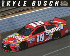 "RARE!  2016----KYLE BUSCH #18 ""SKITTLES"" NASCAR POSTCARD (VERY HARD TO FIND)"