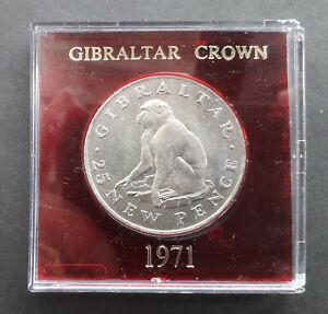 Gibraltar 1971 Crown (25 Pence) - Barbary Ape