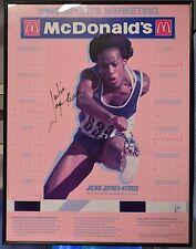 JACKIE JOYNER-KERSEE 1989 Olympic Poster Signed Framed McDonalds's Poster • COA