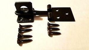Hasp And Staple + Screws Rabbit Hutch Lockable Door Catch Fastener 75mm Black