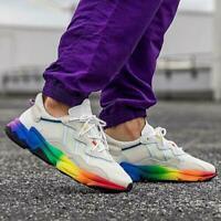 Adidas Ozweego 'Pride' off white rainbow LGBTQ mens sneaker EG1076 Mens Size 11