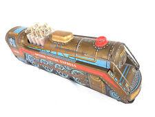 Rare Vintage Battery MT Tradmark Golden Piston Express Litho Tin Train Toy JAPAN