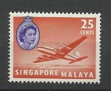 Singapore 1955/9 Sg 47, 25c Orange Red & Bluish Violet LM/M [1033]