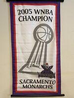 Sacramento Monarchs 2005 Championship Flag Banner WNBA Basketball