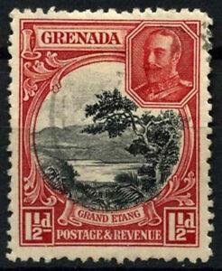 Grenada 1934-6 SG#137, 1.5d Black & Scarlet KGV P12.5 Used #D52092