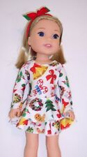 3 piece Clothing Set Leotard, Skirt, and Hairband to fit AG Wellie Wisher Dolls